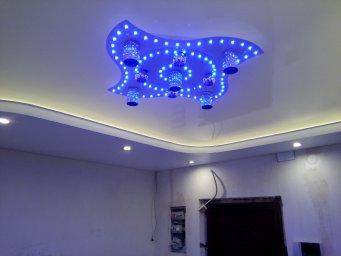 Натяжной потолок с подсветкой в СПб - фото id4a8fb42a